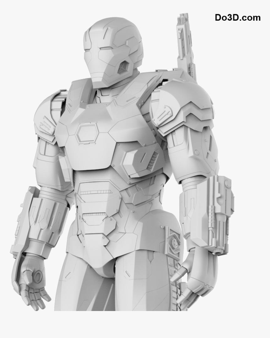 War Machine Mark 3 From Civil War - Pepakura Iron Man War Machine, HD Png Download, Free Download