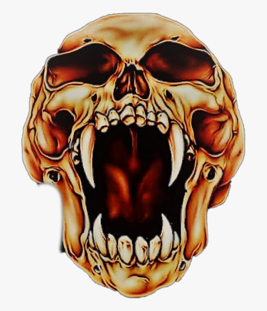 Skull Art Skull Art Drawing Air Brushes - Skull Mouth Open Drawing, HD Png Download, Free Download