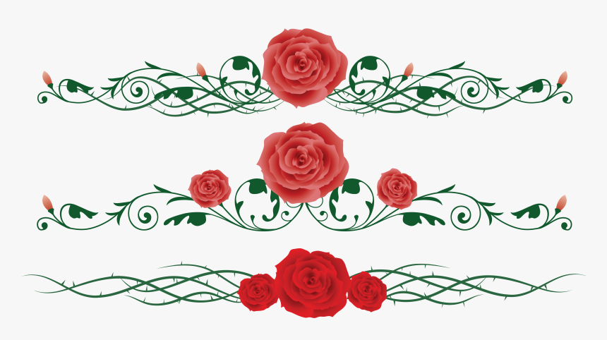 Rose Vine Flower Thorns, Spines, And Prickles Clip - Red Roses Vine Clipart, HD Png Download, Free Download