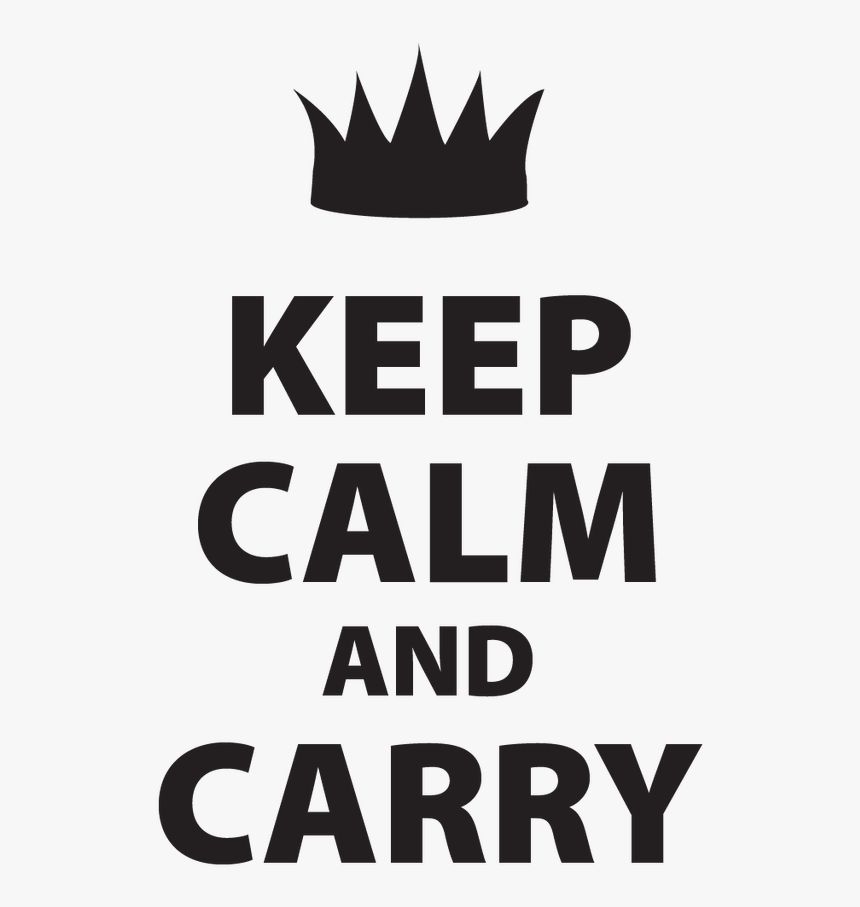 Keep Calm And Carry Decal - Tiara, HD Png Download, Free Download
