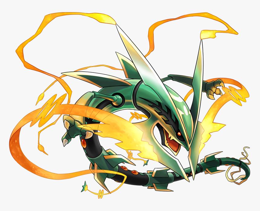 Legendary Pokemon Mega Rayquaza Hd Png Download Kindpng
