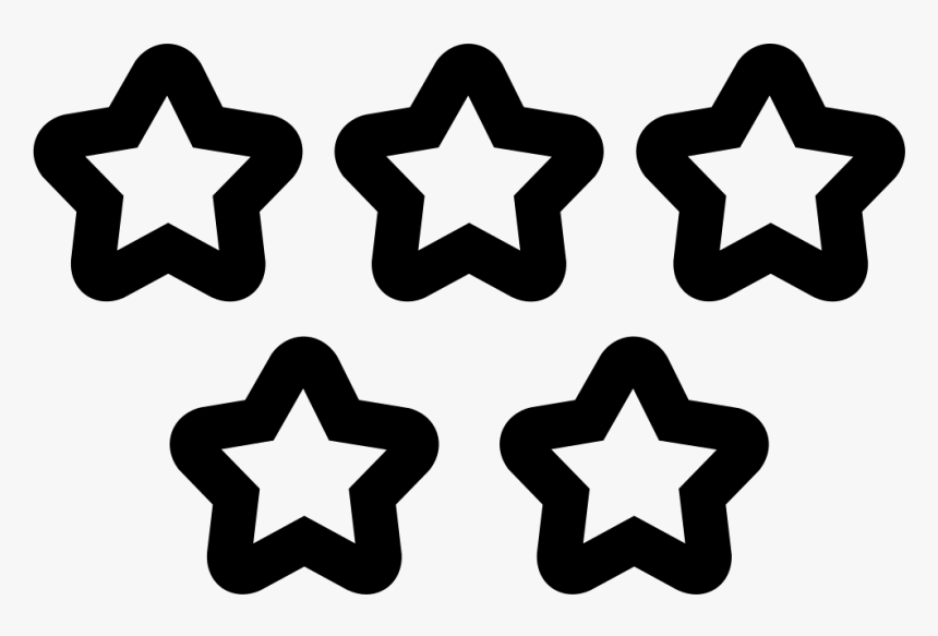 Five Stars Quality Symbol - Stars Vector Black And White, HD Png Download, Free Download