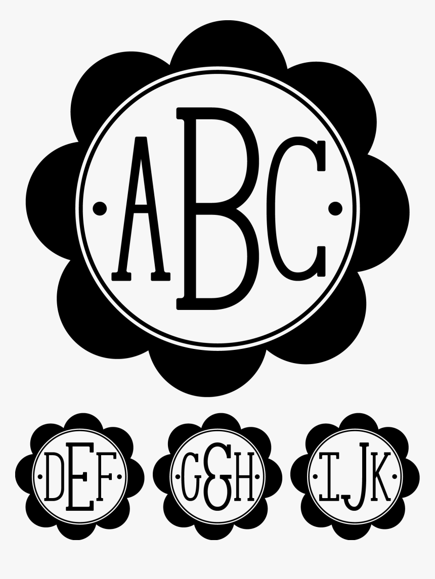 Circle Monogram With Dots, HD Png Download, Free Download