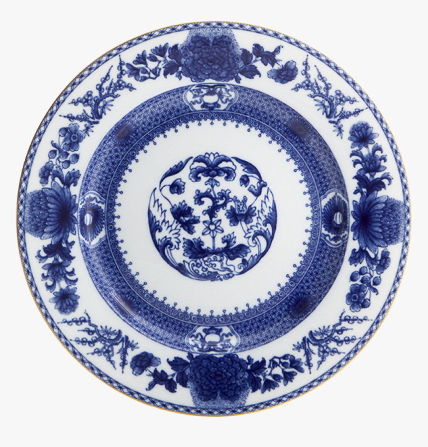 Imperial Blue Dinner Plate - Mottahedeh Blue Lace Dinner Plate, HD Png Download, Free Download