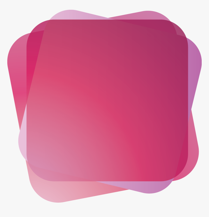 Pink Purple Round Square Shape Banner - Round Shape Banner Png, Transparent Png, Free Download