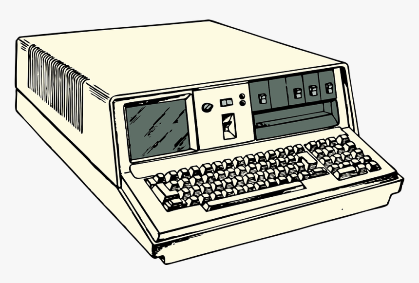 Computer Old Portable Hardware Keyboard Old Computers Clipart Hd Png Download Kindpng