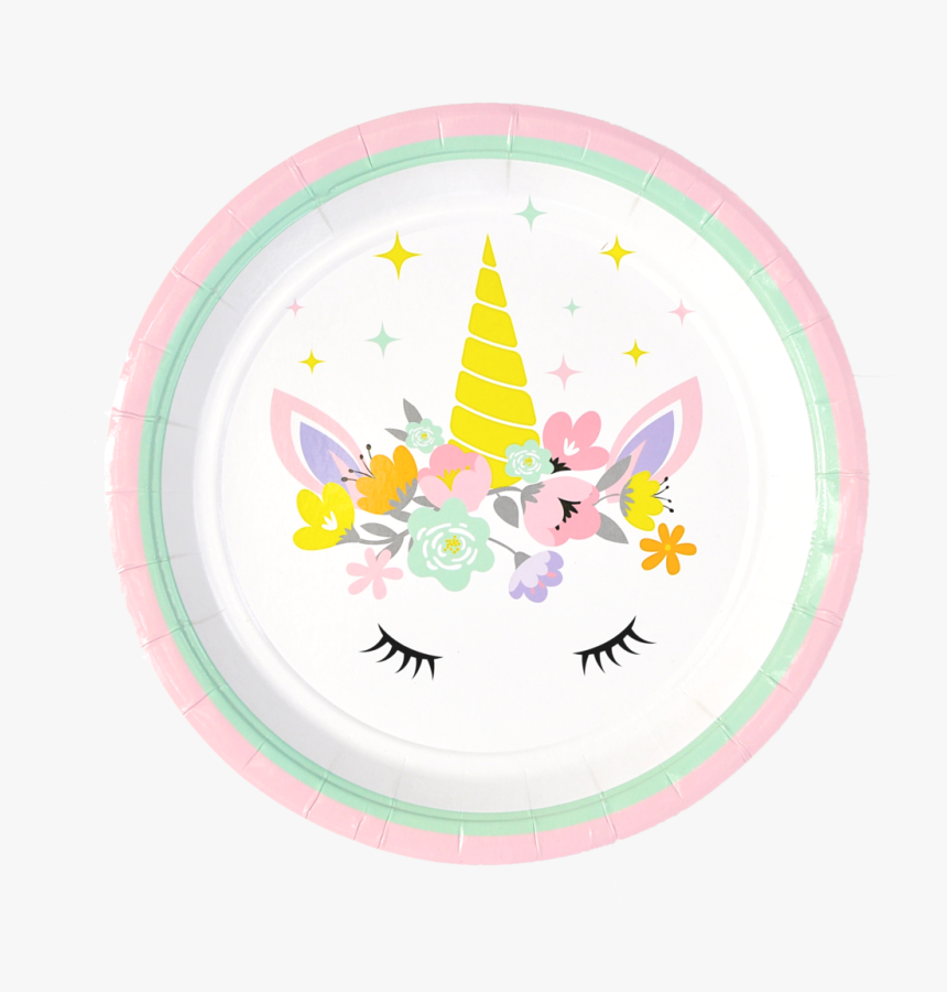 Unicorn Party Plate 9 Inch Dinner Plate Set Of - Printable Unicorn Invitation Template Free, HD Png Download, Free Download