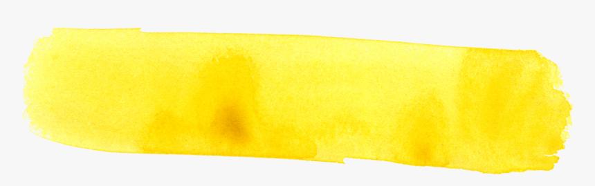 Watercolor Brush Stroke Banner Yellow - Watercolor Brush Strokes Png, Transparent Png, Free Download