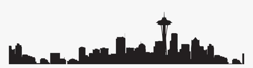 Transparent Seattle Skyline Silhouette - Seattle Skyline Silhouette Transparent, HD Png Download, Free Download