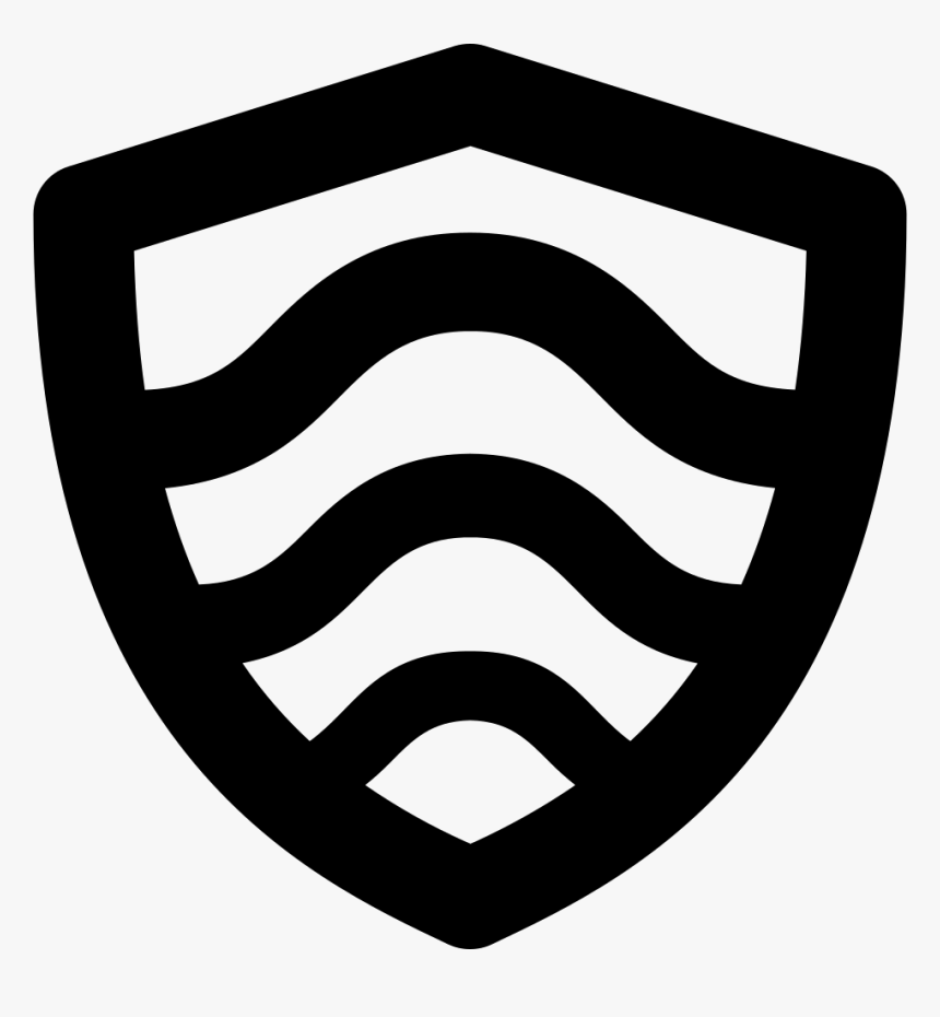 Shield With Curved Lines - Escutcheon, HD Png Download, Free Download