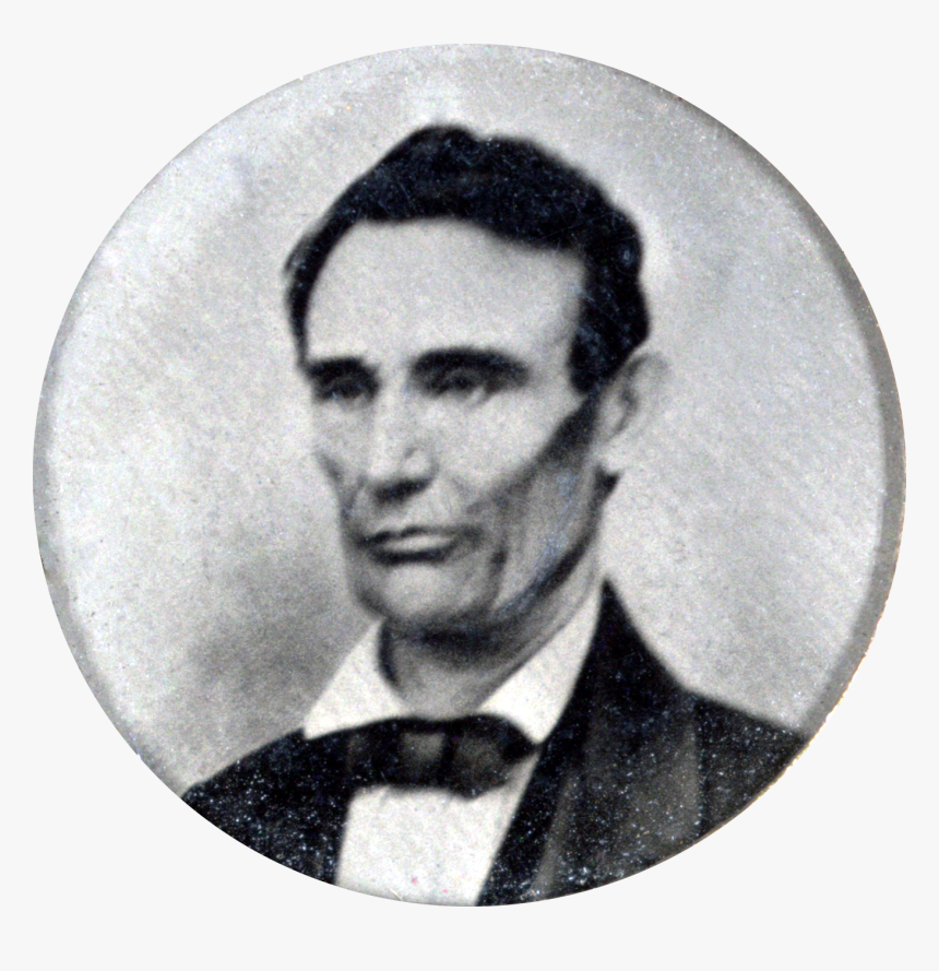 1858 Abraham Lincoln Portrait From Campaign Button - Abraham Lincoln Campaign Button, HD Png Download, Free Download
