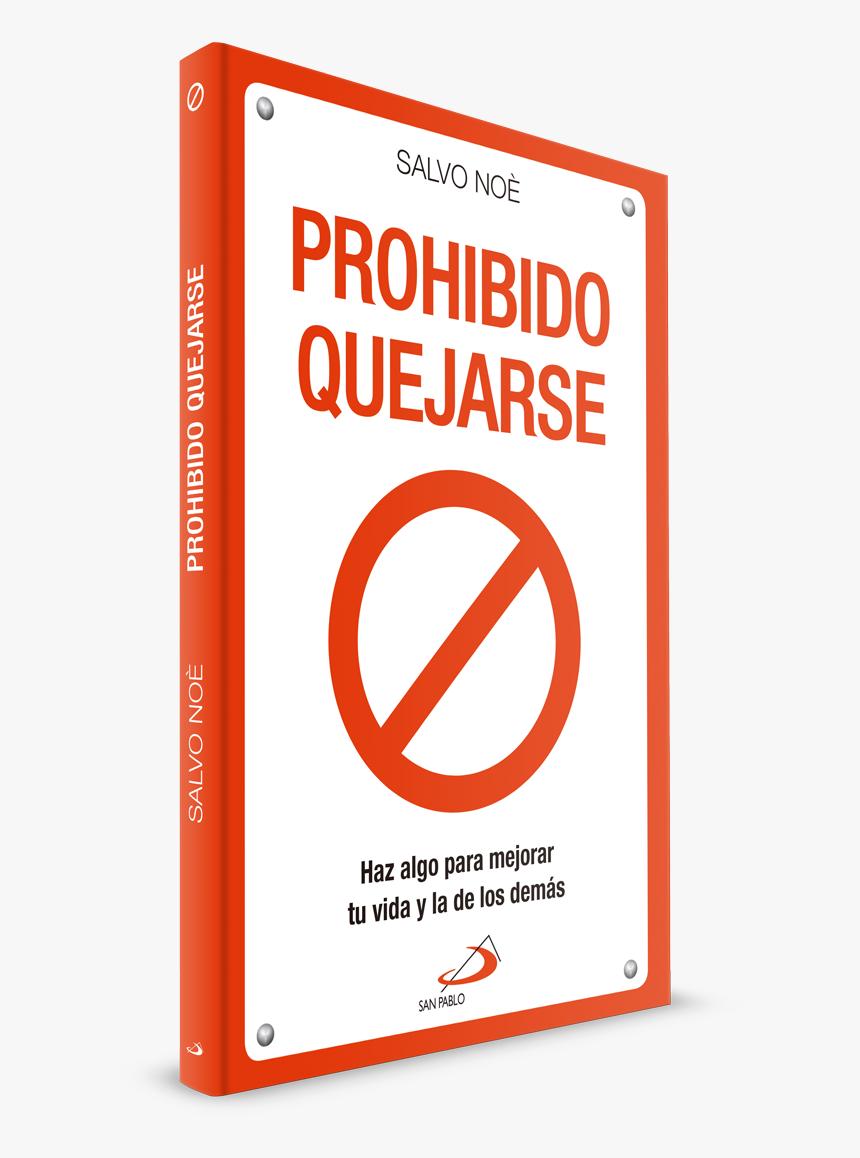 Prohibido Quejarse Libro, HD Png Download, Free Download