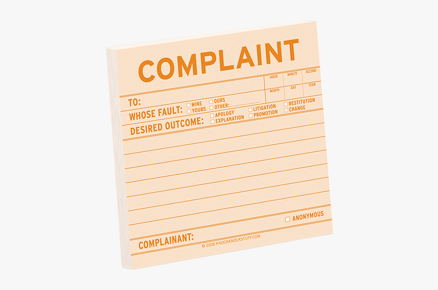 Letter Of Complaint, HD Png Download, Free Download