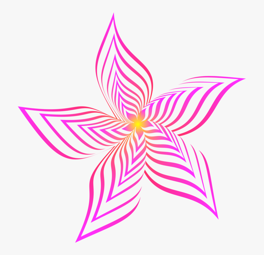 Symmetry,petal,violet - Abstract Flower White Png, Transparent Png, Free Download