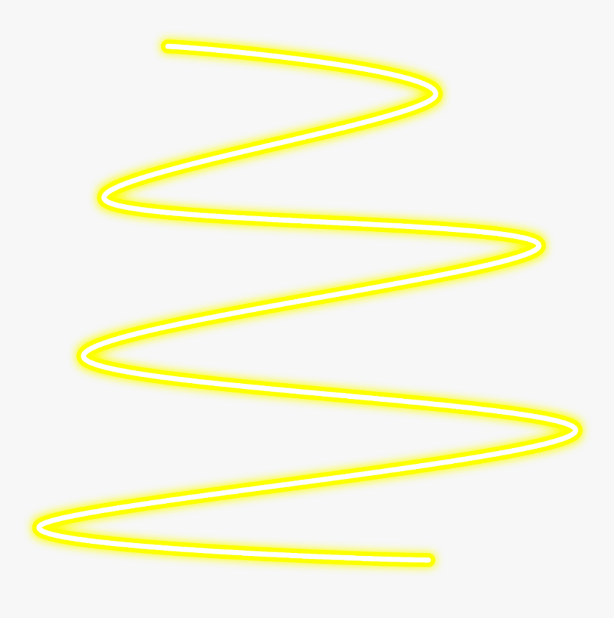 #neon #glow #spiral #yellow #line#lines #freetoedit - Neon Glowing Effect Picsart, HD Png Download, Free Download