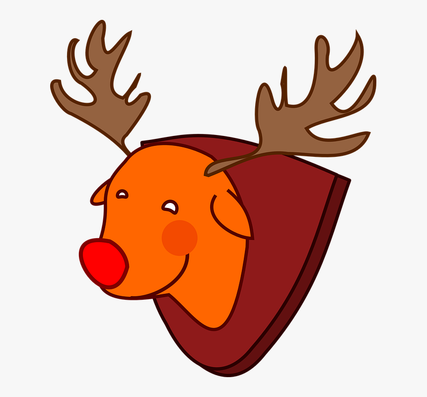 Red-nosed, Reindeer, Rudolph, Animal, Christmas - Rudolph, HD Png Download, Free Download