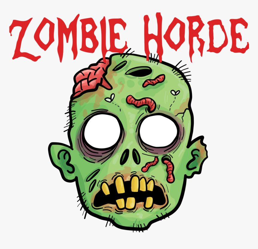 Zombie Label - Zombie Head Clip Art, HD Png Download, Free Download