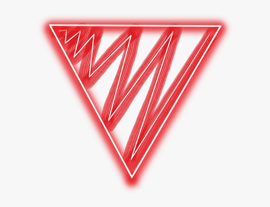 Transparent Red Triangle Png - Red Neon Triangle Png, Png Download, Free Download
