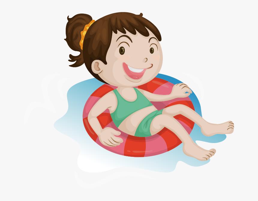 Cartoon Swimming Illustration - Kids Swimming Transparent, HD Png Download, Free Download