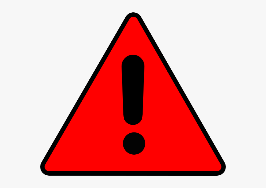 Red Warning Triangle - Warning Clipart, HD Png Download - kindpng