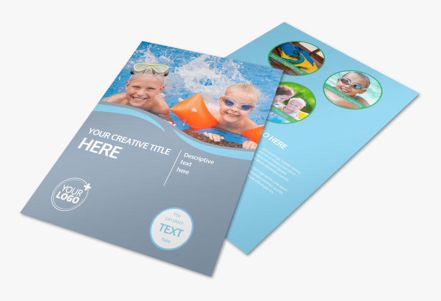 Kids Pool Party Flyer Template Preview - Swimming Pool For Flyer, HD Png Download, Free Download