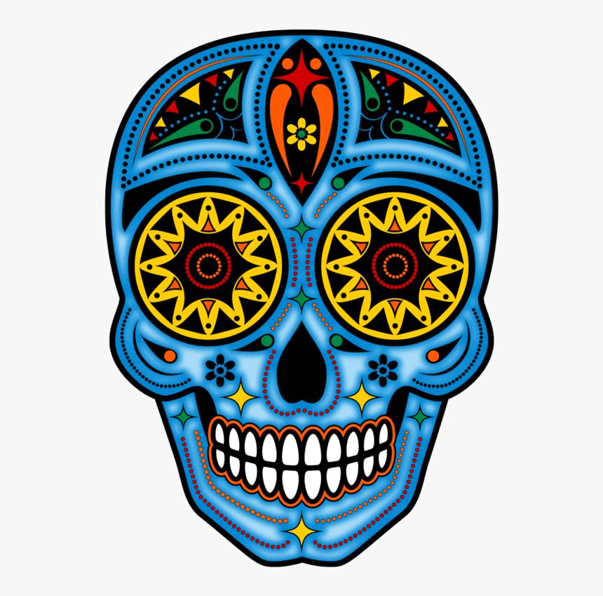 Dia De Los Muertos Blue Skull, HD Png Download, Free Download