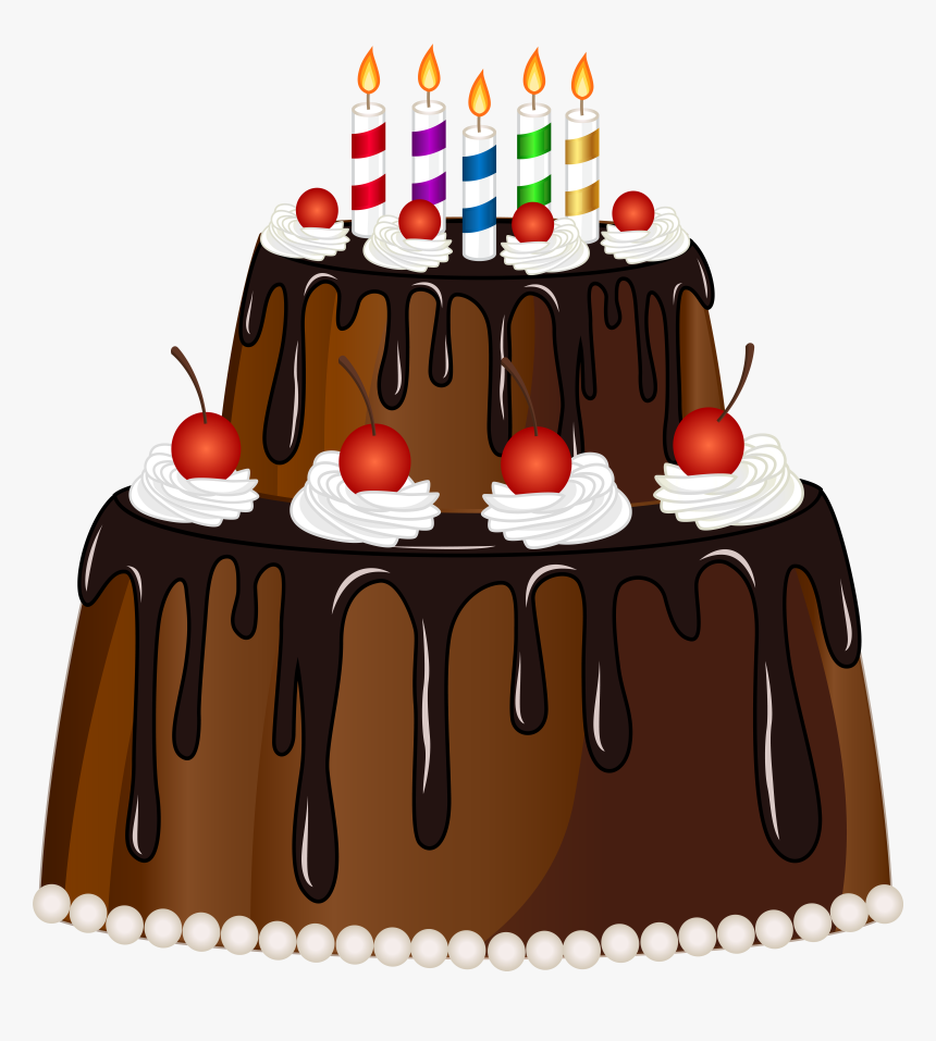 Cake With Candles Png, Transparent Png, Free Download