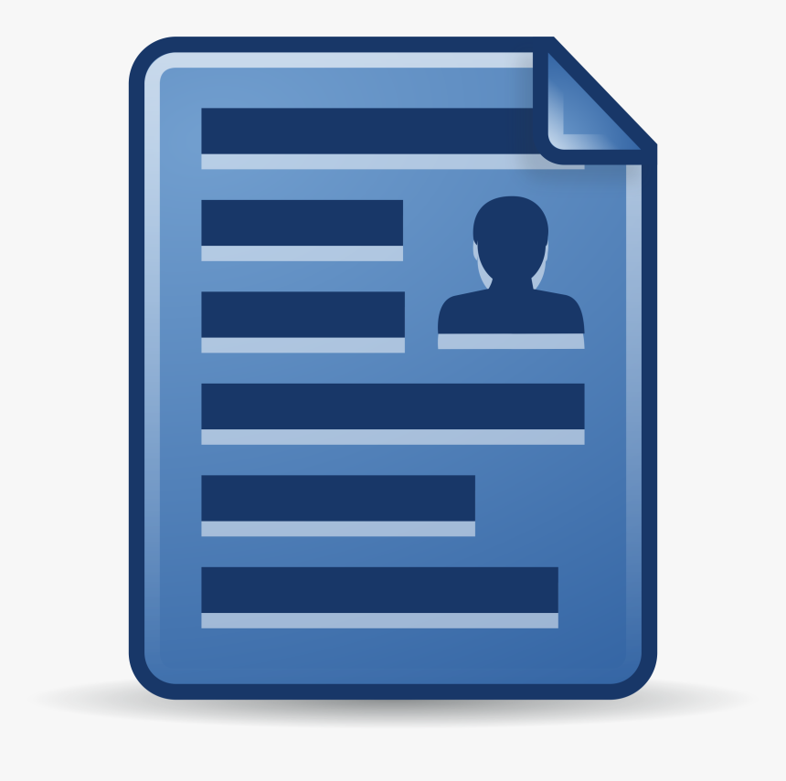 Contact Document Clip Arts - Documento Pessoal Png Icon, Transparent Png, Free Download