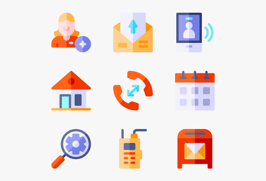 Icons Free Vector Contact, HD Png Download, Free Download