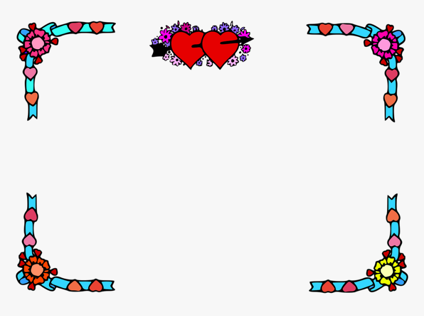 Heart Border Valentine Border Romance Valentine Free Clipart Borders Valentine Hd Png Download Kindpng