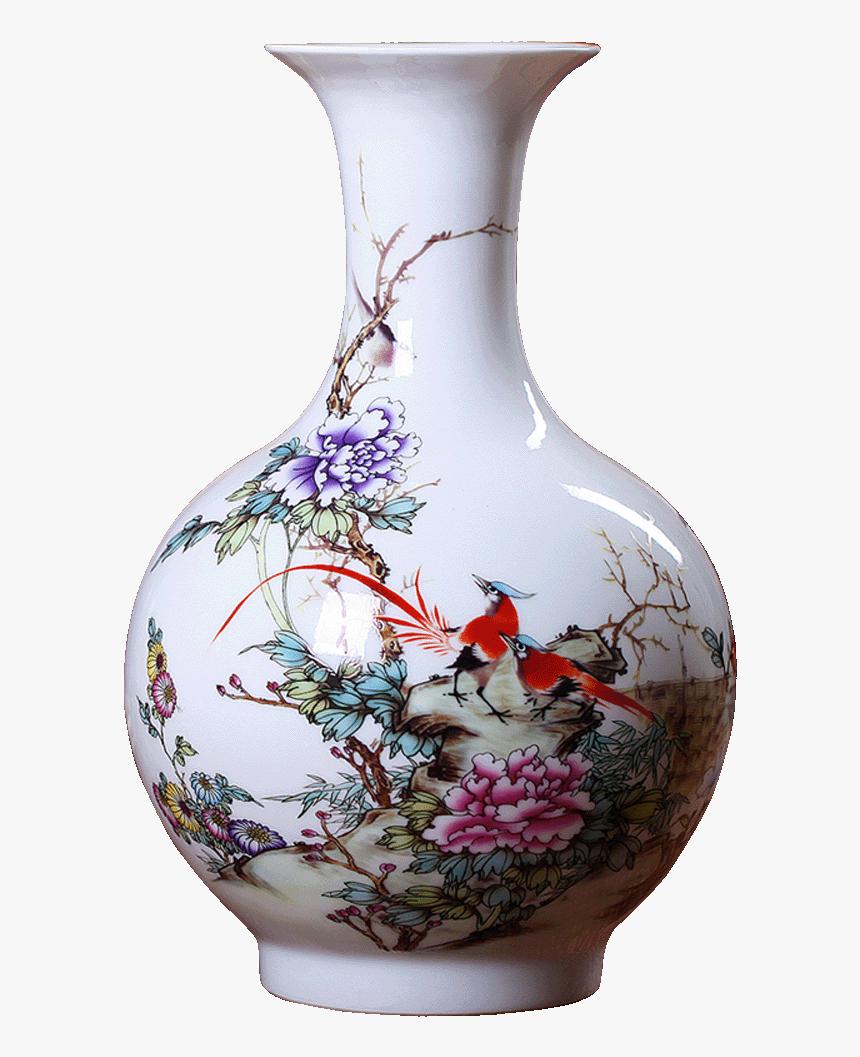 Jingdezhen Ceramic Vase Decoration Living Room Flower - Vase, HD Png Download, Free Download