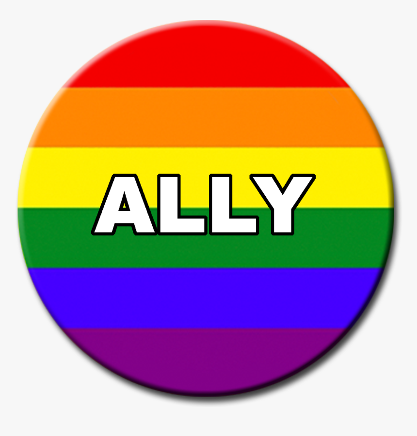 Rainbow Ally Button, HD Png Download, Free Download
