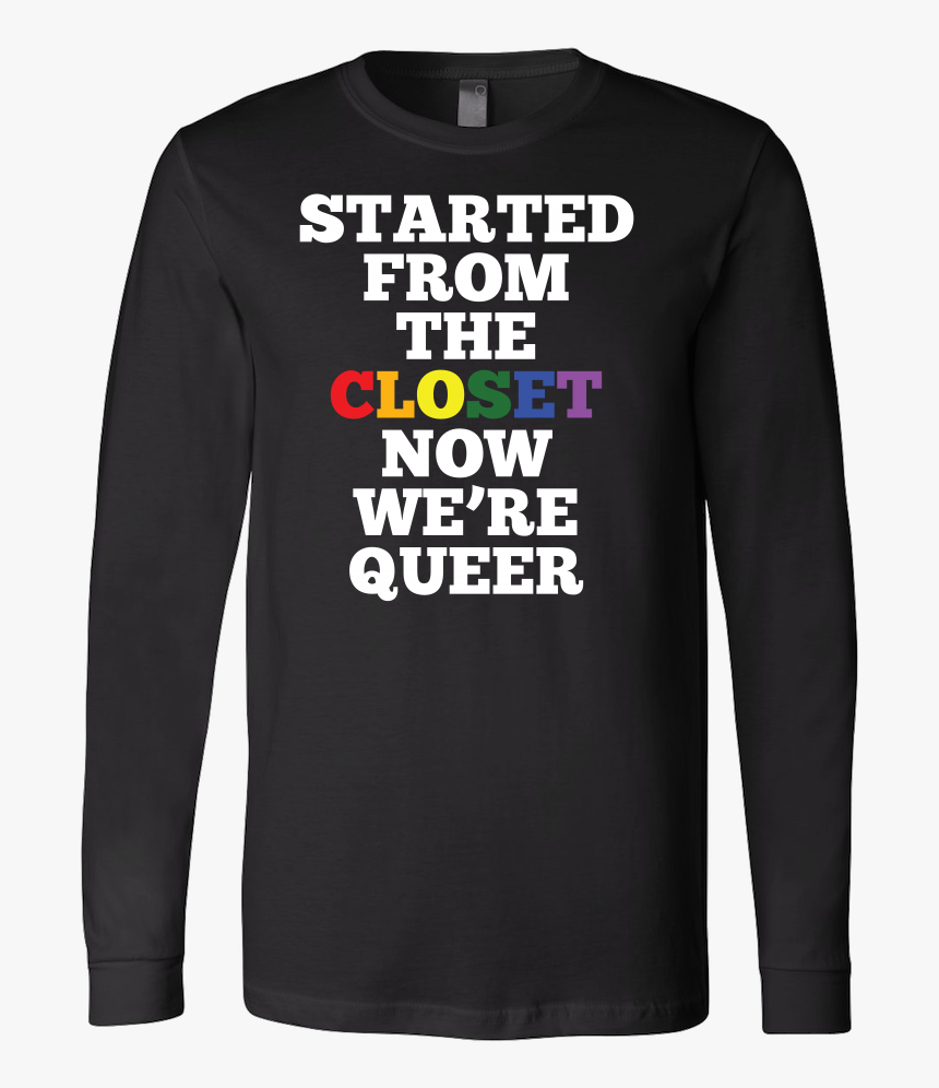 Queer Closet Lgbt Rainbow Flag Gay Lesbian Pride Long - Bella + Canvas Unisex Jersey Long Sleeve T Shirt 3501, HD Png Download, Free Download