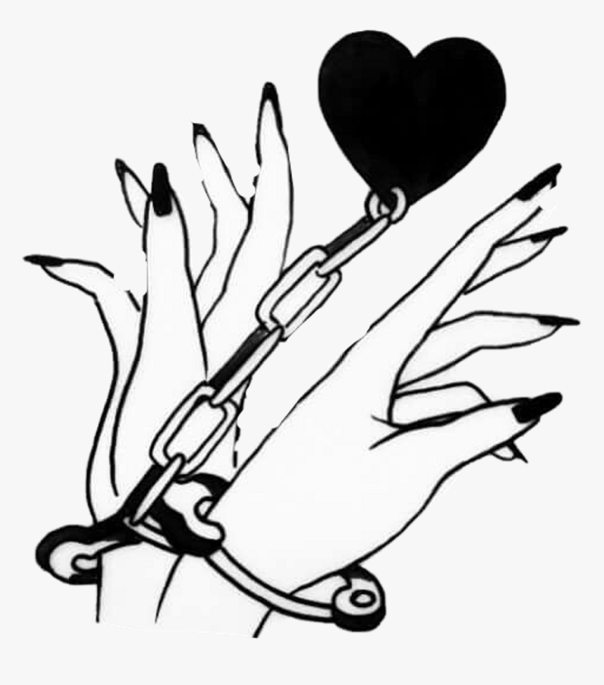 Heart Handcuff Drawing Clipart , Png Download - Kinky Stickers, Transparent Png, Free Download