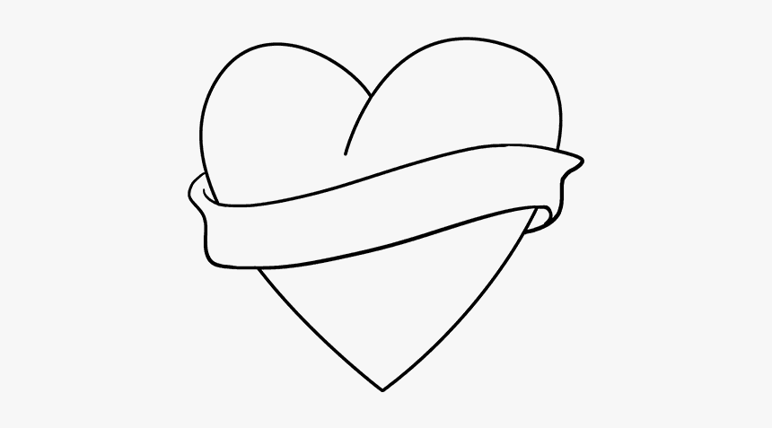 How To Draw Love Heart Drawings Easy Hd Png Download Kindpng