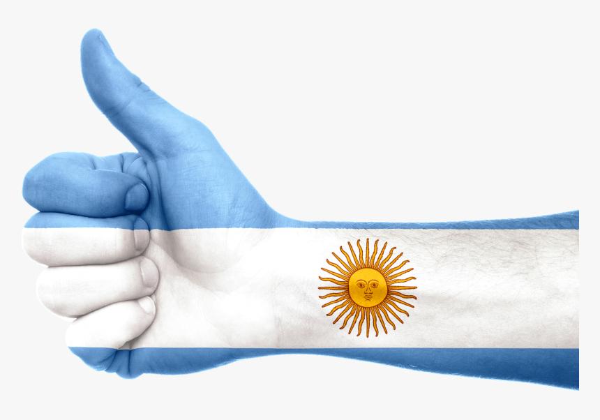 Argentina Flag Hand Hd Png Download Kindpng