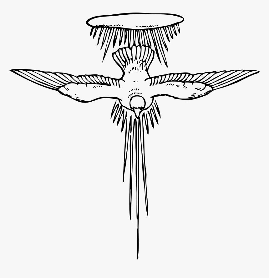 Holy Spirit Svg Clip Arts - Holy Spirit Line Art, HD Png Download, Free Download