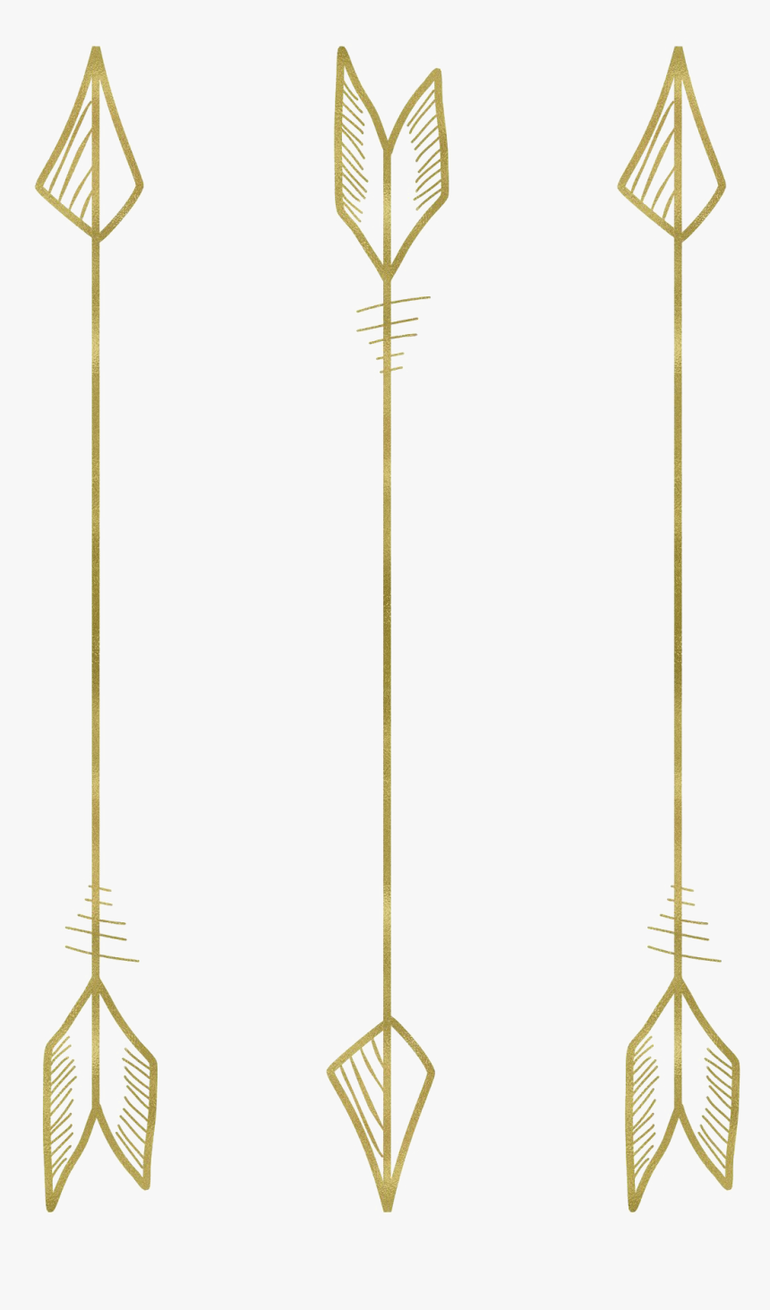Tribal Arrow Transparent Png - Gold Cupid Arrow Png, Png Download, Free Download