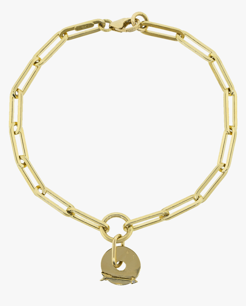 Gold Arrow Fob Clip Bracelet - Clip Chain Cartier, HD Png Download, Free Download