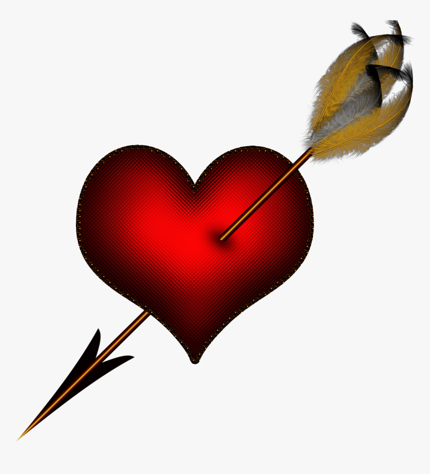 Hearts And Arrows Clip Art - Broken Heart With Arrow, HD Png Download, Free Download