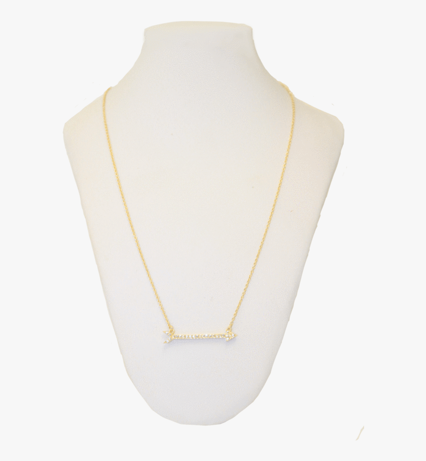 Gold Arrow Necklace From Me - Chain, HD Png Download, Free Download