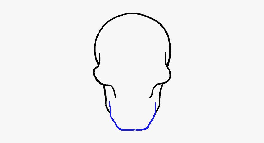 Skull Drawing Facile Tete De Mort Dessin Hd Png Download