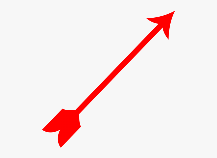 Curved Red Arrow Png - Arrow Red Cute Png, Transparent Png, Free Download