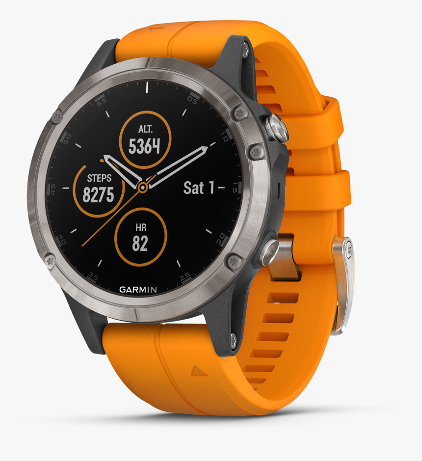 Garmin Fenix 5 Plus Sapphire, HD Png Download, Free Download