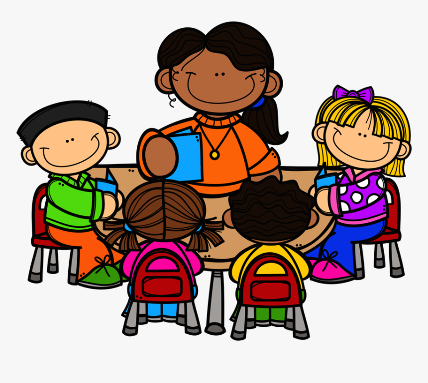 Teacher Reading Table Clipart - Teacher And Student Clipart, HD Png Download, Free Download