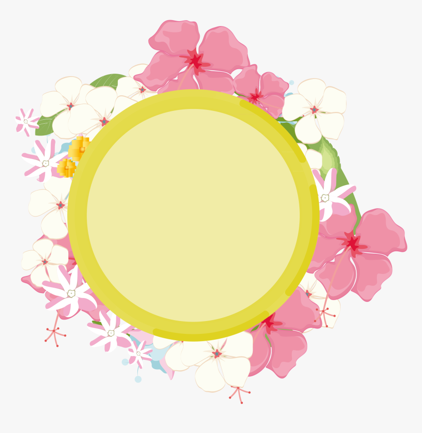 Hand Drawn Plant Background Leaves Advertisement Png - Circle, Transparent Png, Free Download