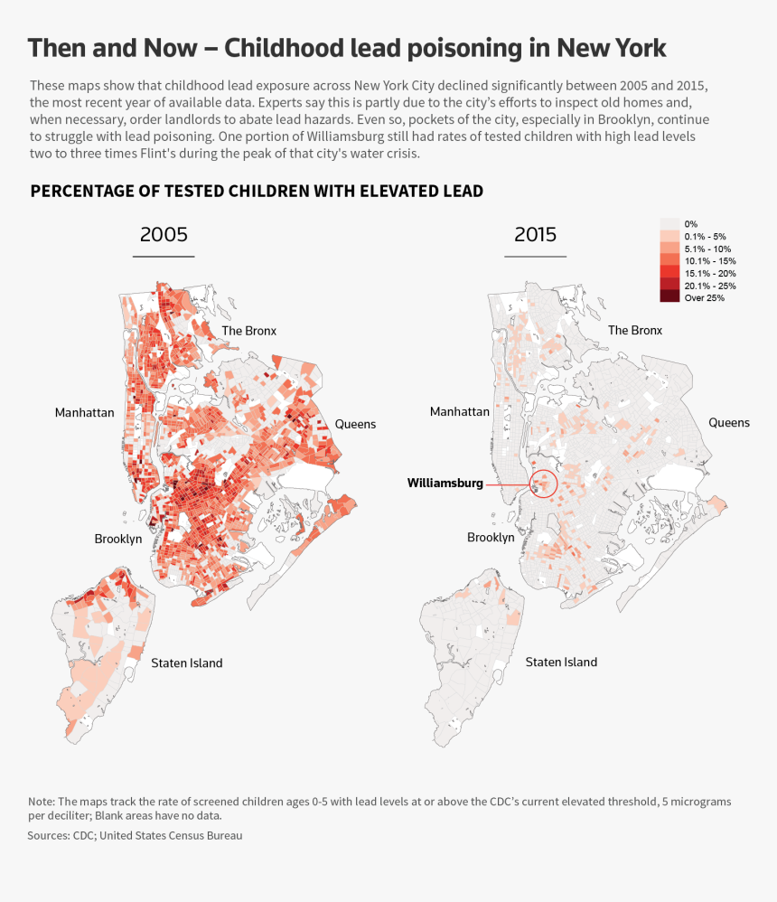 Across The United States, Several Have Linked Use Of - Nyc Lead Map, HD Png Download, Free Download