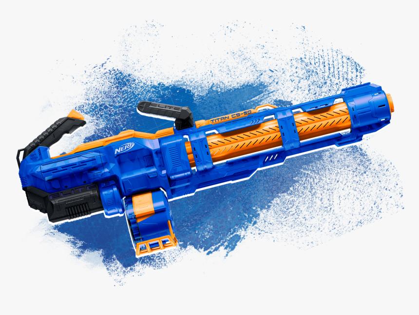 Blaster - Nerf Elite Titan Cs 50, HD Png Download, Free Download