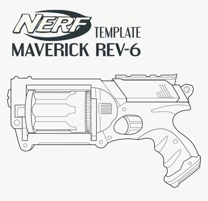 Nerf Coloring Pages - Pistolas Nerf Para Pintar, HD Png Download, Free Download