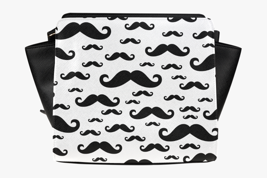 Black Handlebar Mustache / Moustache Pattern Satchel - Mosstache Bags, HD Png Download, Free Download